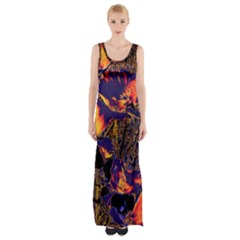 Amazing Glowing Flowers 2a Maxi Thigh Split Dress