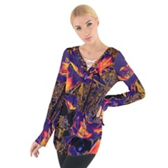 Amazing Glowing Flowers 2a Tie Up Tee