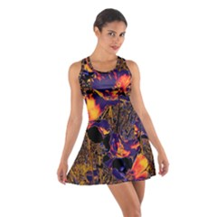 Amazing Glowing Flowers 2a Cotton Racerback Dress