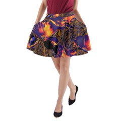 Amazing Glowing Flowers 2a A Line Pocket Skirt