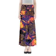 Amazing Glowing Flowers 2a Full Length Maxi Skirt