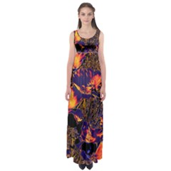 Amazing Glowing Flowers 2a Empire Waist Maxi Dress