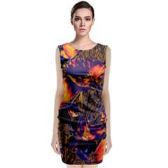 Amazing Glowing Flowers 2a Classic Sleeveless Midi Dress
