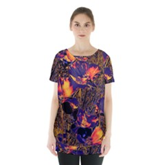 Amazing Glowing Flowers 2a Skirt Hem Sports Top