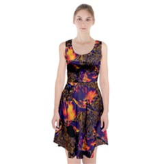 Amazing Glowing Flowers 2a Racerback Midi Dress