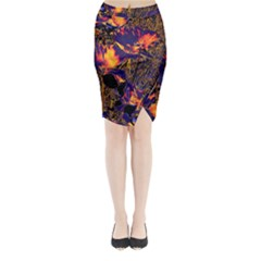 Amazing Glowing Flowers 2a Midi Wrap Pencil Skirt
