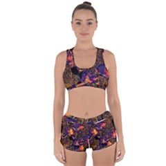 Amazing Glowing Flowers 2a Racerback Boyleg Bikini Set