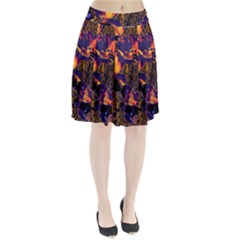 Amazing Glowing Flowers 2a Pleated Skirt