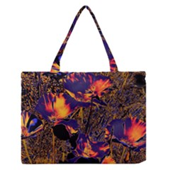 Amazing Glowing Flowers 2a Zipper Medium Tote Bag