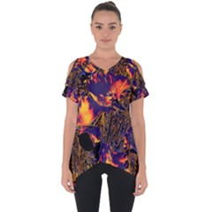 Amazing Glowing Flowers 2a Cut Out Side Drop Tee