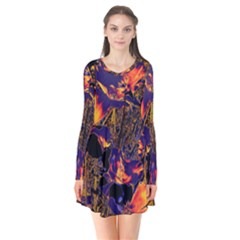 Amazing Glowing Flowers 2a Flare Dress
