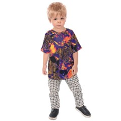 Amazing Glowing Flowers 2a Kids Raglan Tee