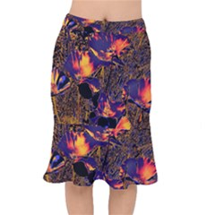 Amazing Glowing Flowers 2a Mermaid Skirt