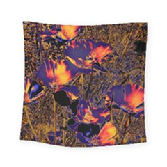 Amazing Glowing Flowers 2a Square Tapestry (small)