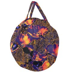 Amazing Glowing Flowers 2a Giant Round Zipper Tote