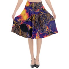 Amazing Glowing Flowers 2a Flared Midi Skirt