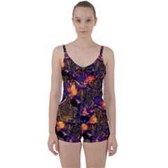 Amazing Glowing Flowers 2a Tie Front Two Piece Tankini