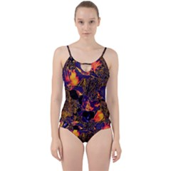 Amazing Glowing Flowers 2a Cut Out Top Tankini Set