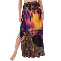 Amazing Glowing Flowers 2a Maxi Chiffon Tie Up Sarong