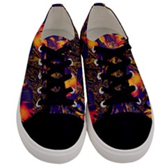 Amazing Glowing Flowers 2a Men s Low Top Canvas Sneakers