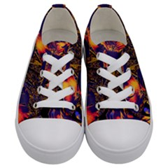 Amazing Glowing Flowers 2a Kids  Low Top Canvas Sneakers