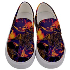 Amazing Glowing Flowers 2a Men s Canvas Slip Ons