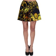 Amazing Neon Flowers B Skater Skirt
