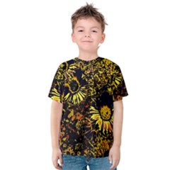 Amazing Neon Flowers B Kids  Cotton Tee