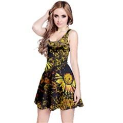 Amazing Neon Flowers B Reversible Sleeveless Dress