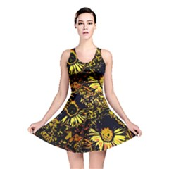 Amazing Neon Flowers B Reversible Skater Dress