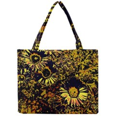Amazing Neon Flowers B Mini Tote Bag