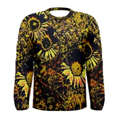 Amazing Neon Flowers B Men s Long Sleeve Tee