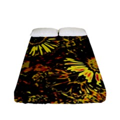 Amazing Neon Flowers B Fitted Sheet (full/ Double Size)