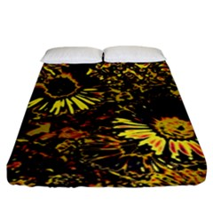 Amazing Neon Flowers B Fitted Sheet (king Size)