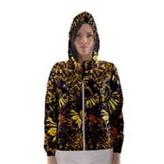Amazing Neon Flowers B Hooded Wind Breaker (women)