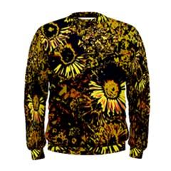Amazing Neon Flowers B Men s Sweatshirt