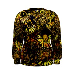 Amazing Neon Flowers B Women s Sweatshirt