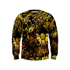 Amazing Neon Flowers B Kids  Sweatshirt