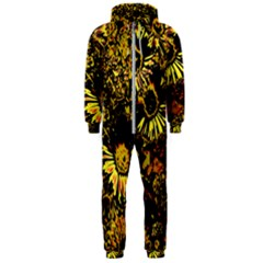 Amazing Neon Flowers B Hooded Jumpsuit (men)