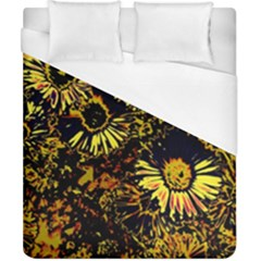 Amazing Neon Flowers B Duvet Cover (california King Size)