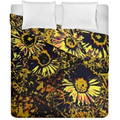 Amazing Neon Flowers B Duvet Cover Double Side (california King Size)