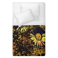 Amazing Neon Flowers B Duvet Cover (single Size)