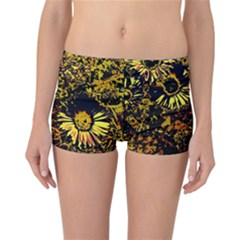 Amazing Neon Flowers B Reversible Boyleg Bikini Bottoms