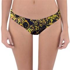 Amazing Neon Flowers B Reversible Hipster Bikini Bottoms