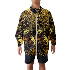 Amazing Neon Flowers B Wind Breaker (kids)