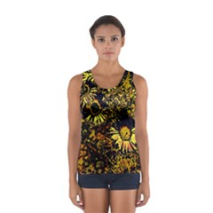 Amazing Neon Flowers B Sport Tank Top
