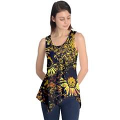 Amazing Neon Flowers B Sleeveless Tunic