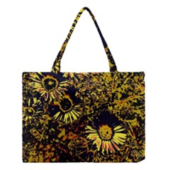 Amazing Neon Flowers B Medium Tote Bag