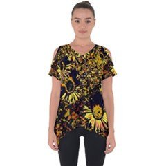 Amazing Neon Flowers B Cut Out Side Drop Tee
