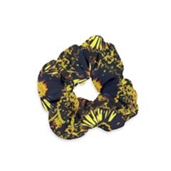 Amazing Neon Flowers B Velvet Scrunchie